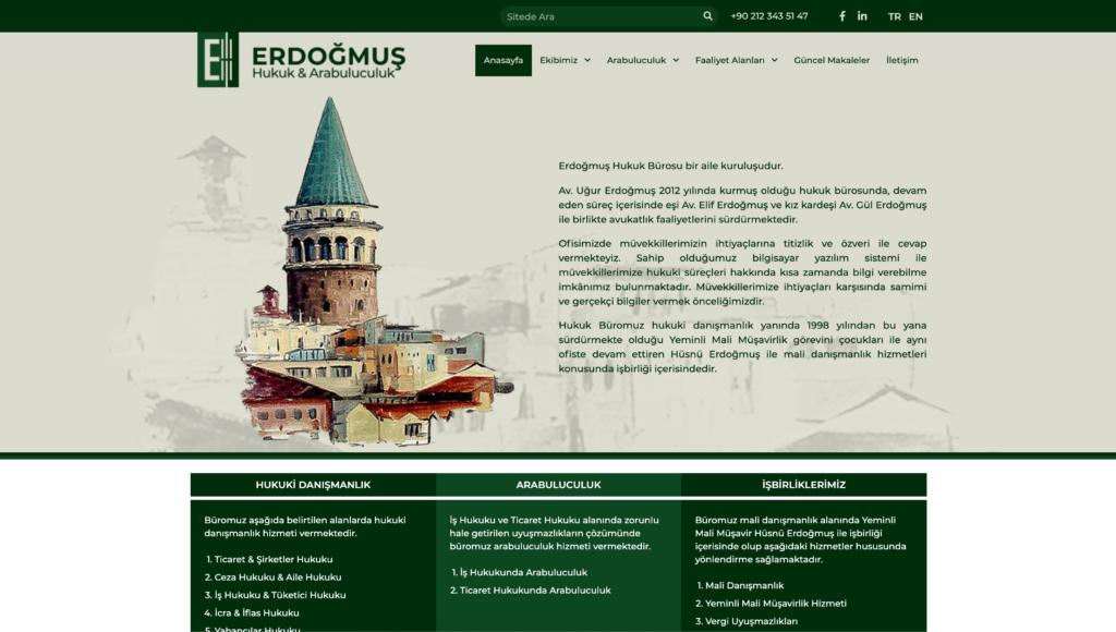Erdoğmuş Hukuk Web Sitesi Gorgo Kreatif
