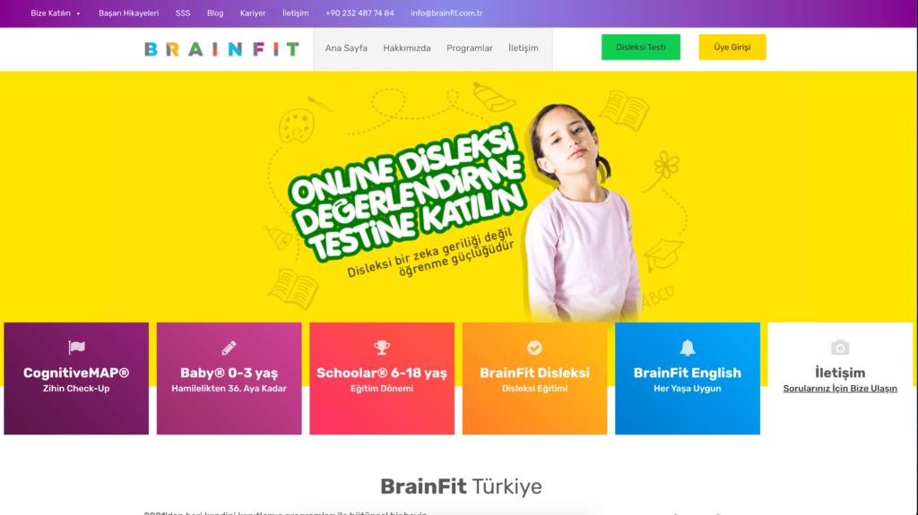 BrainFit Türkiye Web Sitesi