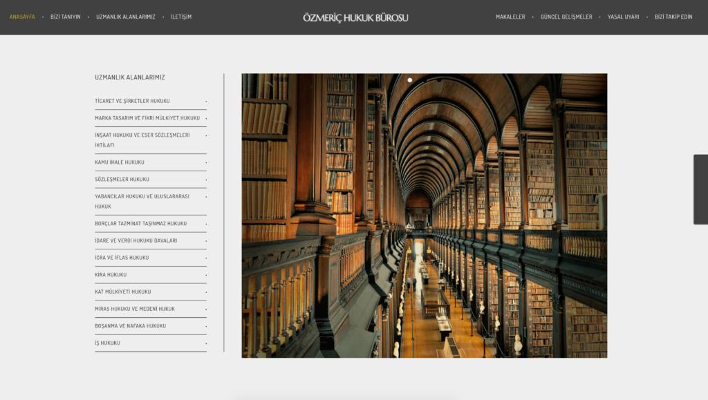 Özmeriç Hukuk Bürosu WebSitesi