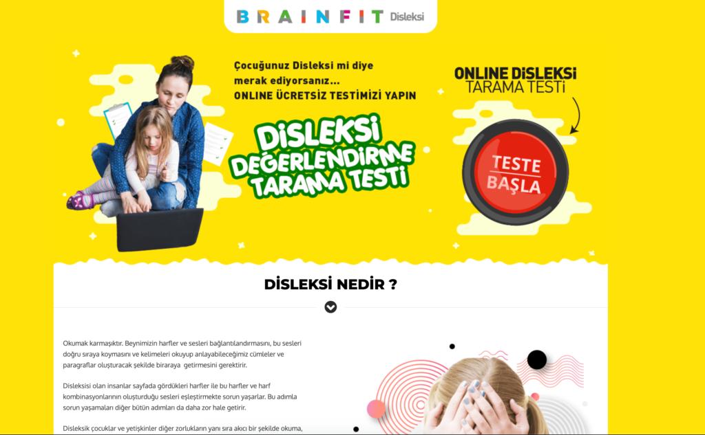 BrainFİt Disleksi Web Sitesi